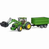 Bruder 3055 Traktor John Deere 7930 s nakladačom a valníkom, 1:16, 75 x 19 x 22 cm