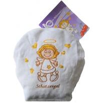 Nahřívací dětský polštářek s třešňovými peckami Anděl