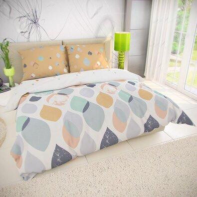 Lenjerie de pat din bumbac Serena, 220 x 200 cm, 2 buc. 70 x 90 cm
