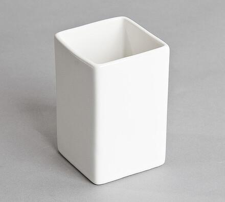 Kelímek na zubní kartáče bílý