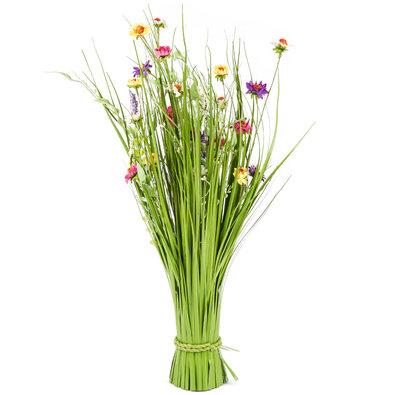 Väzba umelých lúčnych kvetín 70 cm, viacfarebná