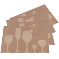 Prostírání Drink béžová, 30 x 45 cm, sada 4 ks