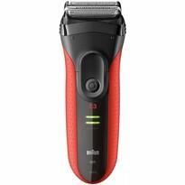 Braun Series 3 3030s holiaci strojček, červená