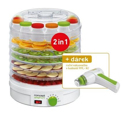 Concept SO-1050 sušička ovoce a bylinek s jogurtovačem