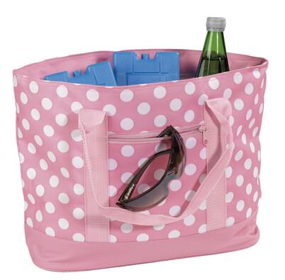 Chladicí nákupní taška puntík 22 l, růžová