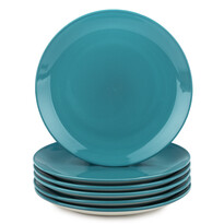 Altom Sada porcelánových dezertných tanierov Monokolor 19 cm tyrkysová, 6 ks