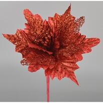 Umělá Poinsettie červená, 25 cm