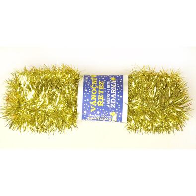 Řetěz zlatý, 500 cm, sada 2 ks, zlatá