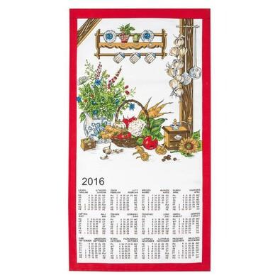 Textilní kalendář 2016 Česká kuchyně, 35 x 65 cm
