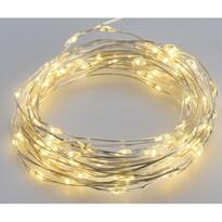 Solárny vonkajší svetelný drôt, 200 LED, teplá biela