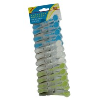 Štipce na bielizeň plastové LUXO, sada 12 ks