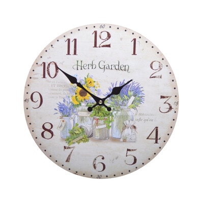 Nástěnné hodiny Herb Garden HLC147145