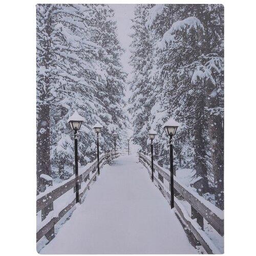 Winter LED kép vásznon, 40 x 30 cm