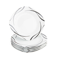 Domestic 6dílná sada dezertních talířů Oslo, 20,5 cm