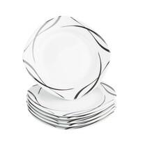 Mäser Oslo 6 részes desszert tányér készlet , 20,5 cm