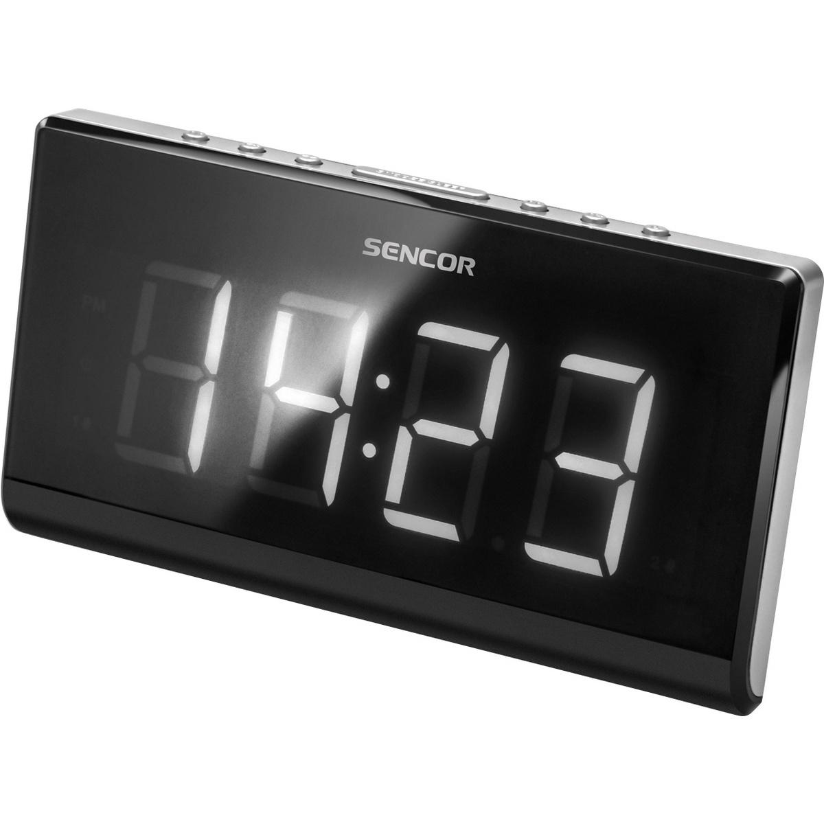 Sencor SRC 340 rádiós ébresztőóra, fekete