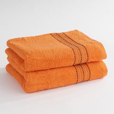 Ručník Verona oranžová, 50 x 100 cm, sada 2 ks