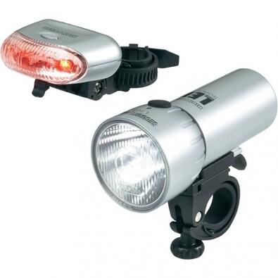 Souprava LED osvětlení na kolo, stříbrná