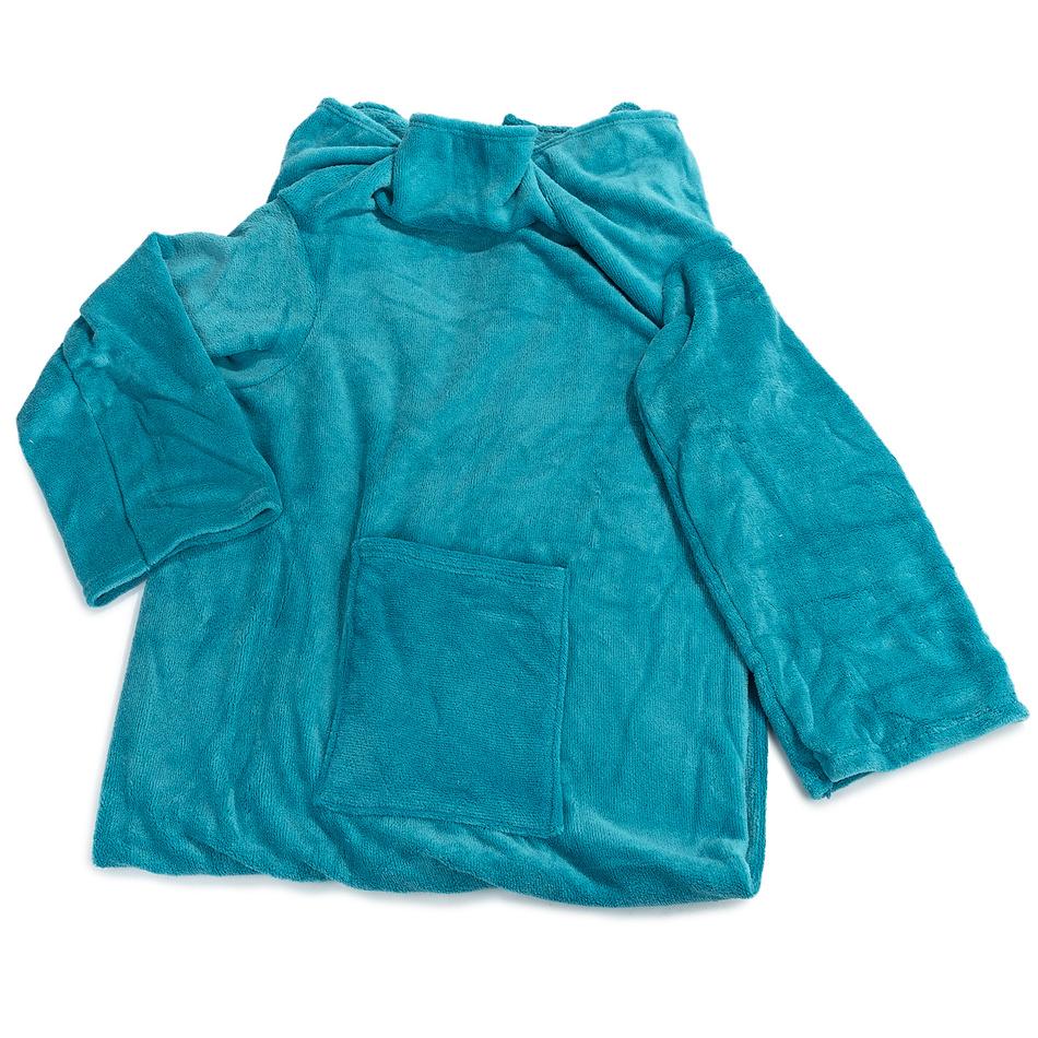 Modom Deka Comfort s rukávmi a vreckom modrá, 180 x 135 cm