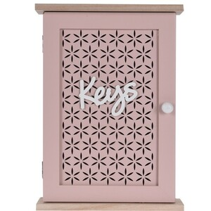 Skříňka na klíče Trento růžová, 28 x 20 cm