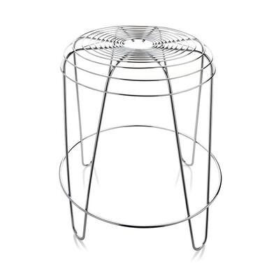 Stolička A Tempo 45 cm, stříbrná