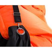 Sedací pytel s popruhy Orange - Black 191 x 141 cm