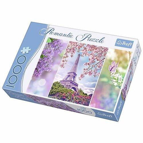 Trefl Puzzle Romantic Jaro v Paříži, 1000 dílků