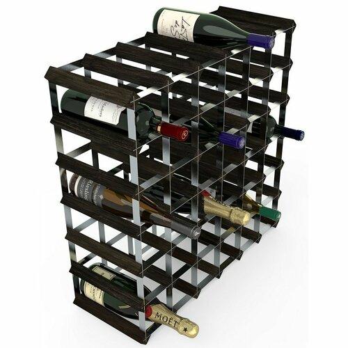 Stojan na víno RTA na 42 lahví, černý jasan - pozinkovaná ocel / rozložený