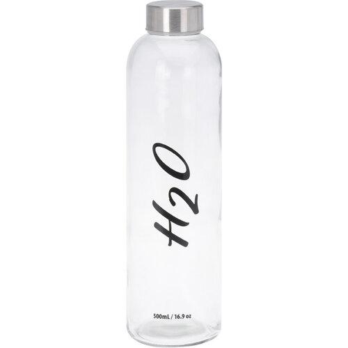 Sklenená fľaša na vodu H2O, 750 ml