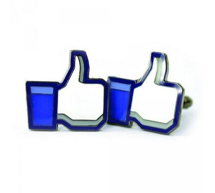 Manžetové knoflíčky - Like it, bílá + modrá
