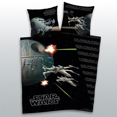 Dětské bavlněné povlečení Star Wars Black, 140 x 200 cm, 70 x 90 cm