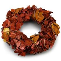 Podzimní věnec Billet hnědá, pr. 25 cm