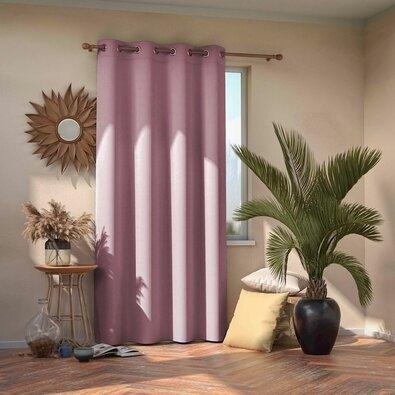 AmeliaHome Blackout EYELETS függöny, rózsaszín, 140 x 245 cm