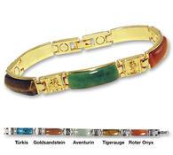 Náramek magnetický s polodrahokamy zlatá barva