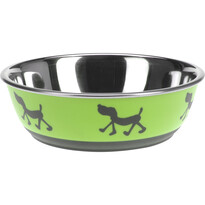 Castron câine Doggie treat verde, diam. 17,5 cm