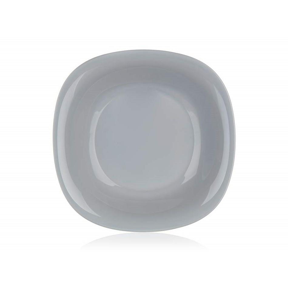 Luminarc Hranatý hluboký talíř CARINE 21 cm, 6 ks, šedá