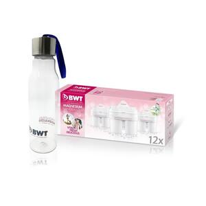 BWT Náhradní filtry 12 ks s dárkem - sportovní láhev BWT