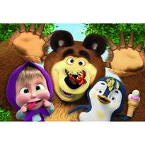 Trefl Puzzle, Mása és a medve, Vidám fotó, 60 részes