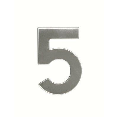 Numer domu ze stali nierdzewnej 5, 2D płaski