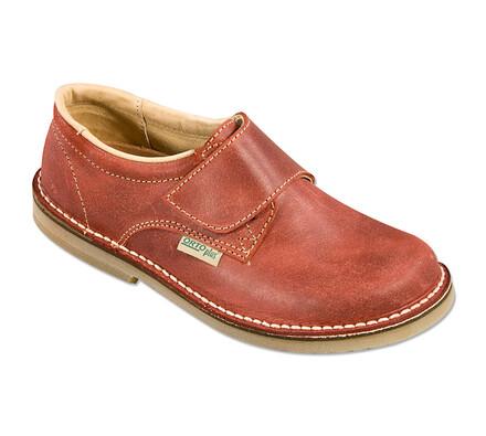 Orto Plus Dámská obuv vycházková na suchý zip vel. 41 tmavě červená