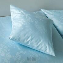 Veba Poszewka z adamaszku na poduszkę Bohema Powój niebieski, 40 x 40 cm