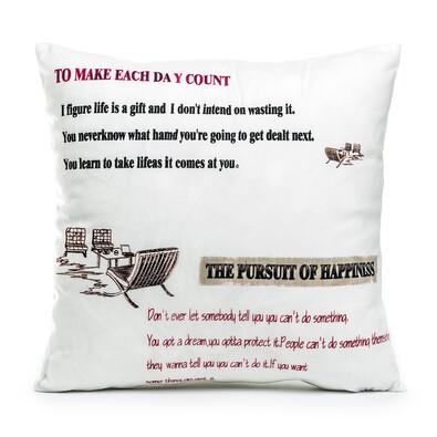 Povlak na polštářek Happiness, 45 x 45 cm