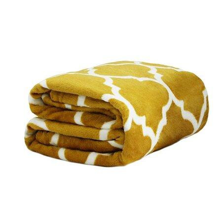 Domarex Novia takaró, sárga/fehér, 150 x 200 cm