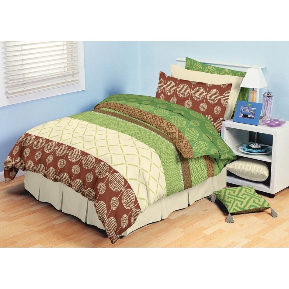 TipTrade bavlna povlečení Adeline Zelené 140x200 70x90, 140 x 200 cm, 70 x 90 cm