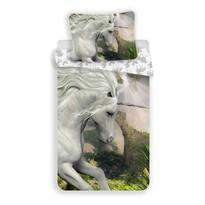 Dziecięca pościel bawełniana Unicorn white, 140 x 200 cm, 70 x 90 cm