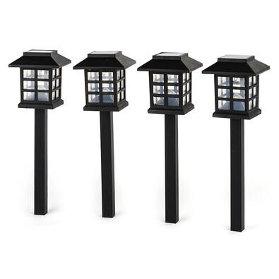 Solární osvětlení Domeček, sada 4 ks