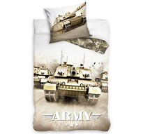 Lenjerie de pat din bumbac Tank Army, 140 x 200 cm, 70 x 90 cm