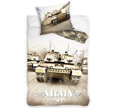Bavlněné povlečení Tank Army, 140 x 200 cm, 70 x 90 cm