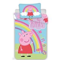 Jerry Fabrics Dziecięca pościel bawełniana do łóżeczka Świnka Peppa 0016,