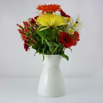 Váza Element 18,5 cm, bílá